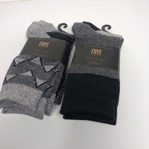 Frye Cotton Crew Socks. 2packs /3 each pack